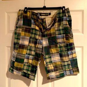 Men's madras shorts size 32